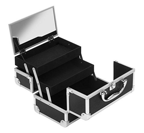 Clauss valigetta portatrucco/portagioie, nero