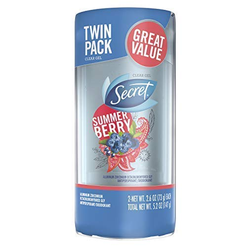 Secret Scent Expressions So Very Summerberry Clear Gel Antiperspirant/Deodorant, 160ml (Pack of 2), So Very Summerberry, 150ml