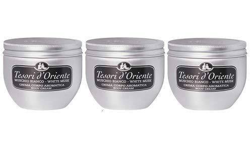 3 x tesori d'Oriente Muschio bianco crema per il corpo muschio bianco 300 ml