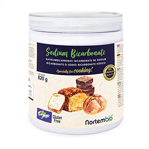 Nortembio Bicarbonato di Sodio Biologico 820 g. Uso Alimentare. Speciale per Cucinare. Qualitá Premium. E-Book Incluso.