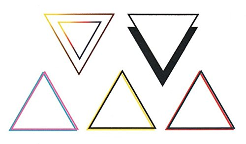 Bellezza trucco corpo: tatuaggi temporanei triangoli multicolore.