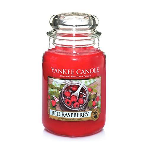 Yankee Candle Candela profumata in giara grande | Lampone rosso | Durata Fino a 150 Ore