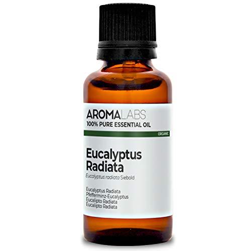 Aroma Labs Eucalipto Radiata Bio - 30Ml - Olio Essenziale Bio E Naturale Al 100% - Qualità Verificata Mediante Cromatografia - Aroma Labs - 30 ml