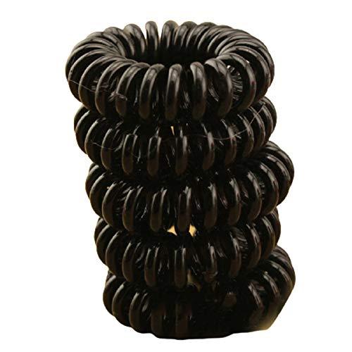 10 pz fascia di gomma copricapo corda a forma di spirale elastici per capelli ragazze accessori per capelli legami per capelli gomma telefono filo