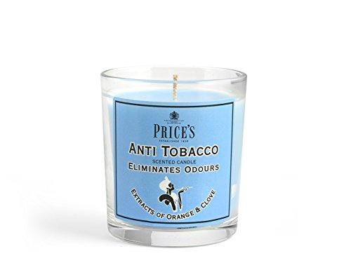 Price's Candles Freshair Candela in Vasetto Antitobacco, Cera, Bianco, 7.5x7.5x8.5 cm