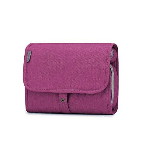 Wind Took Beauty Case Unisex Beauty Case da Viaggio Appendibile Beauty da Viaggio Trousse da Toilette Beauty Case Grande Wash Bag Impermeabile Rosa rossa