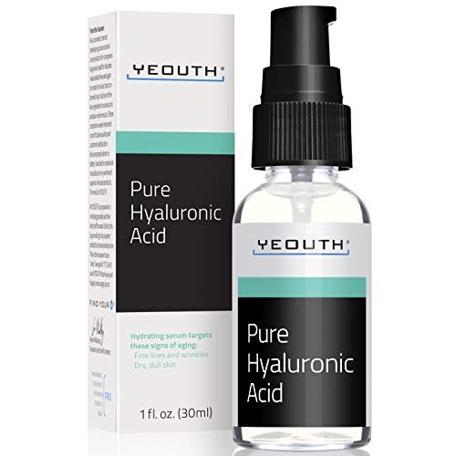Siero Viso all'Acido Ialuronico puro di YEOUTH - 100% Formula Puro Anti Invecchiamento! (1oz)