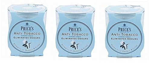 Price's FR100616 - 3 candele mangiafumo in vaso Blu