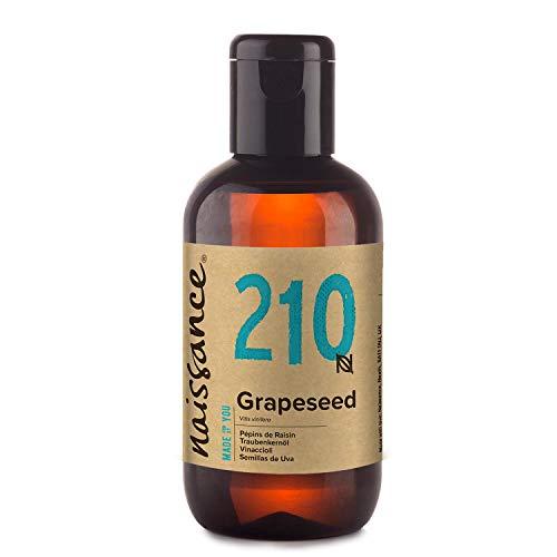 Naissance Olio di Vinaccioli - Olio Vegetale Naturale al 100%, Vegano, senza OGM, Idratante, usato per Massaggio e Capelli - 100ml