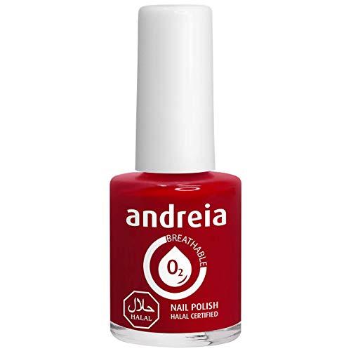 Andreia Smalto per Unghie Traspirante Halal - Permeabile all'Acqua - B17 Rosso - Sfumature di Rosa   10 ml
