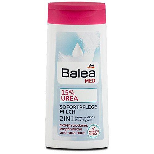 Balea Med 15% Urea - Latte per la cura immediata, 2 in 1, 250 ml