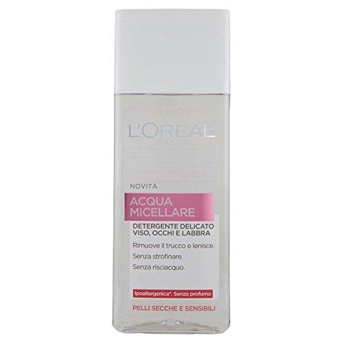 L'Oréal Paris Acqua Micellare Detergente Delicato 3 in 1 per Pelli Secche e Sensibili, 200 ml