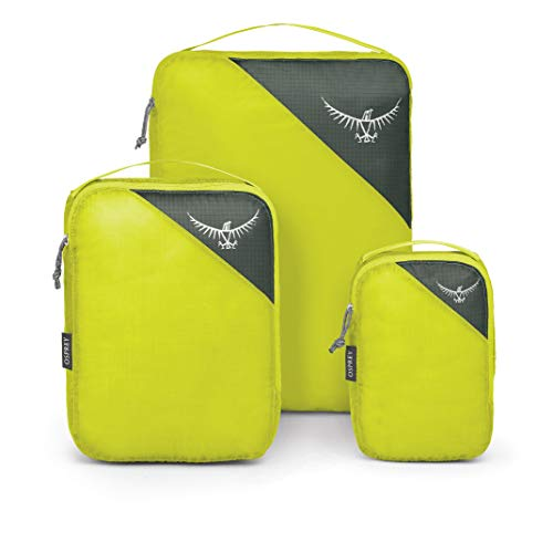 Osprey Ultralight Packing Cube Set, Custodia Unisex – Adulto, Electric Lime, S/M/L