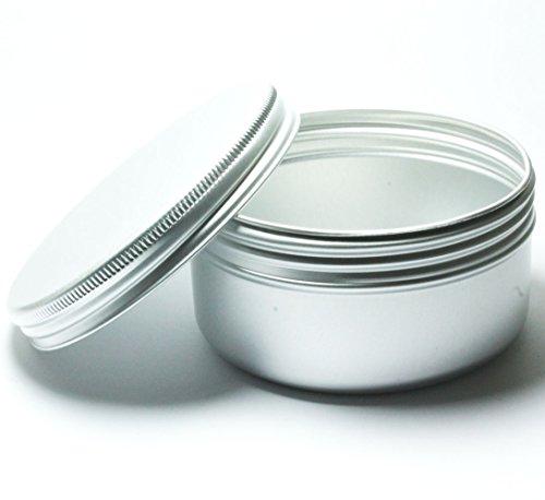 15 barattoli in alluminio (100 ml) per nail art makeup, cosmetici, creme da viaggio, balsami per labbra tatuaggio