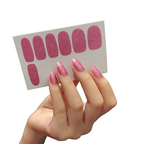 Greatangle-UK Adesivo per Unghie con Glitter in Tinta Unita Adesivo per Unghie con Smalto per Unghie sfumato Brillante Multicolor