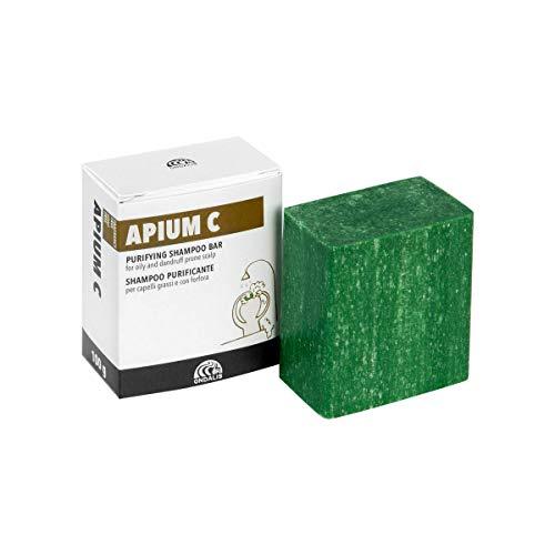 Ondalis Apium C - Shampoo Solido Naturale - Capelli Grassi e con Forfora - Purificante e calmante - Senza Profumo e Senza Conservante - Made in Italy - 100gr