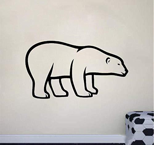 Adesivo Murale Orso Polare Per Cameretta 57X32 cm, Tatuaggio Rimovibile In Vinile In Pvc Per La Decorazione Del Soggiorno