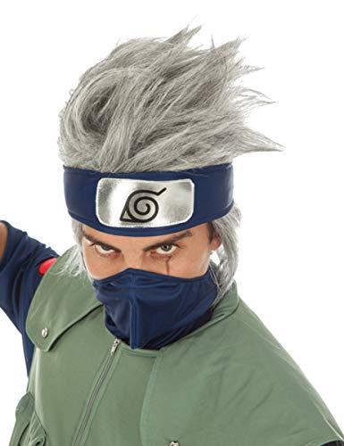 Generique - La Parrucca Naruto Kakashi haun Accessorio di Costume Grigio