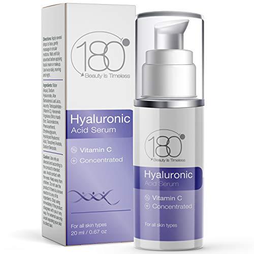 180 Cosmetics, Siero all'acido ialuronico per viso e occhi, puro acido ialuronico per risultati immediati, idratante, anti invecchiamento, anti rughe