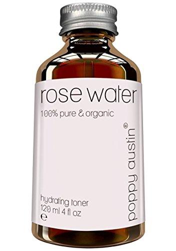 Tonico Viso Acqua di Rose - Vegano, Senza Crudeltà, Biologico, Fatto a Mano & Tre Volte Purificato - Acqua di rose marocchina pura al 100% per Uomo e Donna, 120ml
