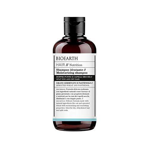 Bioearth Hair 2.0 Shampoo Idratante per Capelli Secchi e con doppie punte - 250 ml
