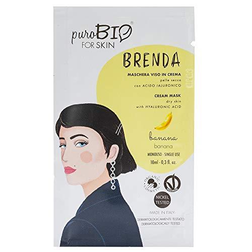 Purobio Brenda Maschera Viso In Crema Per Pelli Secche, 02 Banana - 10 Ml