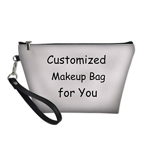 Showudesigns Personalizza il Trucco Borsa Personalizzata per le Donne Teen Girls PU Leather Travel Toiletry Kit Pouch
