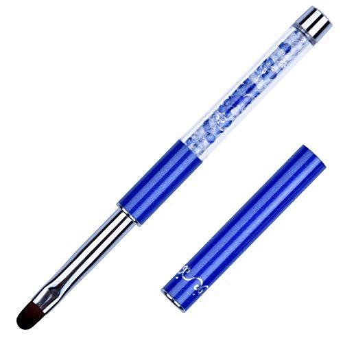 1Pc Ovale Gel UV Spazzola per unghie Manico in strass Strumenti per nail art professionali Taglia 8