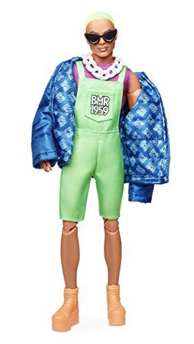 Barbie BMR1959 Ken con Giacca e Tuta Fluorescente, Bambola Snodata, GHT96