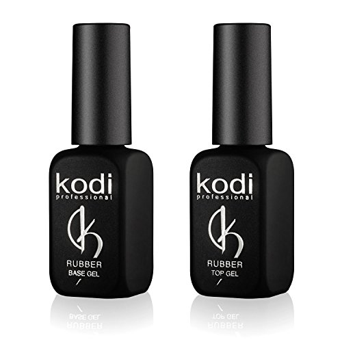 Kody, set di smalti semipermanenti professionali Rubber, con top coat e base da 12 ml, un kit di smalti a lunga durata, facili da usare, non tossici e inodore; si asciugano con la lampada UV o LED