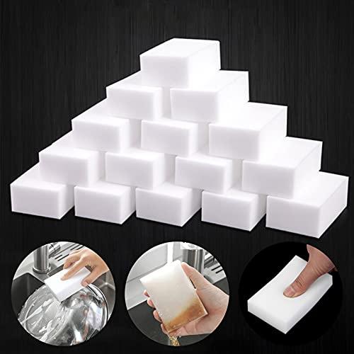 Confezione da 20 spugne magiche per cancellare la gomma, spugnette extra spesse in melamina per pulire segni di mazze, cucina, bagno, pavimento e parete durevole