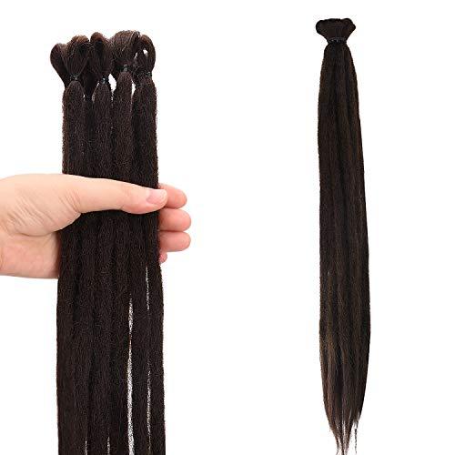 Noverlife 10 fili 50 cm cioccolato scuro Dreadlock extension Uncinetto sintetico Dreadlocks accessori per capelli giamaica punk hip-hop reggae capelli treccia finto locs per uomini e donne