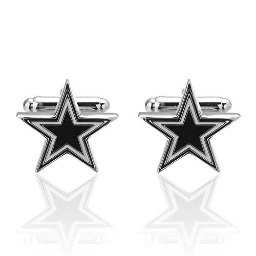 QFERW gemelli gioielli gemelli stella a cinque punte gemelli dialta qualità smalto animale gemello mosaico cristallo 2019 più nuovo caldo, nero