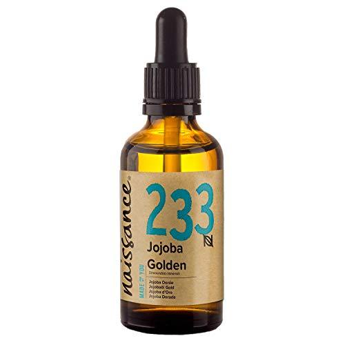 Naissance Olio di Jojoba d'Oro 50ml - puro al 100%, Pressato a Freddo, Vegan, Cruelty Free, senza OGM, per l'idratazione della pelle e dei capelli