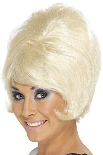 SMIFFYS Smiffy's Parrucca ad alveare anni '60, bionda, corta Donna, Taglia unica, 42273