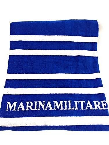 Marina Militare Telo Mare e/o Bagno in Pura Spugna idrofila Art. 97531MM cm. 100x180 (Azzurro 284L)