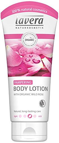 Lavera Pampering, crema per il corpo ultra idratante alla rosa selvatica, vegan, biologica, naturale & innovativa, 200ml
