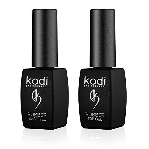 Kodi Professional Top & Base Coat Set 8ml | Gel Soak Off, Kit smalto per unghie | Smalto effetto duraturo | Facile da usare, non tossico e inodore | Polimerizzazione con lampada LED o UV