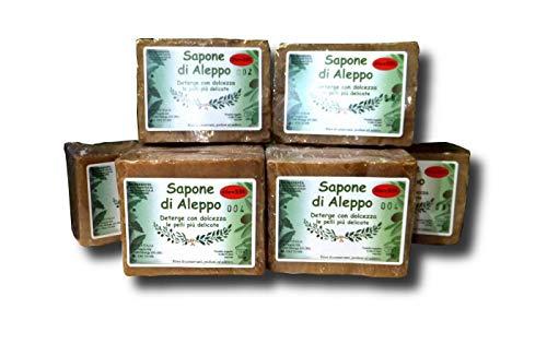 Sapone di Aleppo originale al 55% di alloro 180/200 gr. 6 pezzi 30,00 €
