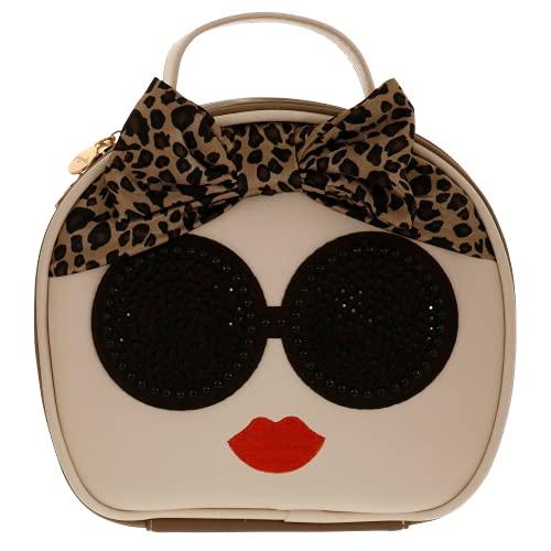 Camomilla MILANO Beauty Bag, Borsa Porta Trucchi, Pochette Trucco, Collezione Cadiz Leo, Colore Beige
