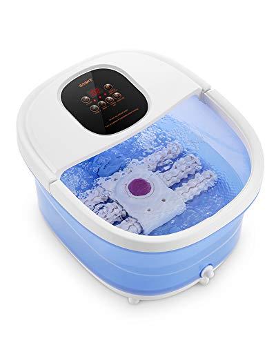 Massaggiatore per pediluvio/spa 6 in 1: calore, bolle, vibrazioni, 6 rulli shiatsu motorizzati, conversione di frequenza, impostazioni di tempo e temperatura, uso domestico