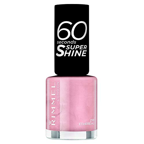 Rimmel London Smalto Unghie 60 Seconds Super Shine, Asciugatura Rapida e Lunga Durata, 210 Ethereal, 12 ml