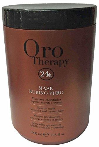 Keratin Mask Rubino Puro Oro Therapy 1000ml Fanola ® Coloured & Treated Hair - Maschera Cheratinica per Capelli Colorati e Trattati