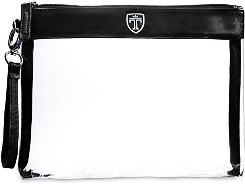 TRAVANDO ® Trousse trasparente - Busta da viaggio trasparente - Set da viaggio trasparente per cosmetici - Kit da aereo per liquidi - Set da viaggio PVC - Beauty Case trasparente - Trousse