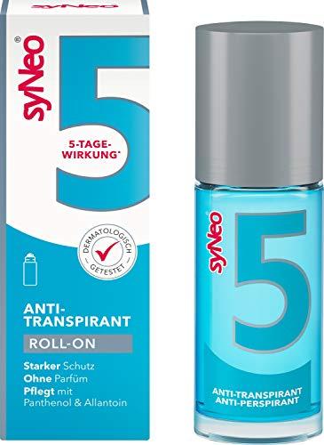 syNeo 5 antitraspirante roll-on, antisudore per donne e uomini, antiodore deodorante anti sudore, 1 confezione (1 x 30 ml)