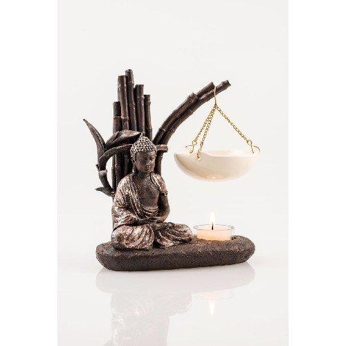 Pajoma Lampada profumata, Acrilico, Marrone, Höhe 13 cm