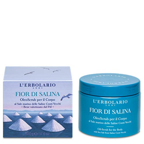 L'Erbolario, OleoScrub per il Corpo Fior di Salina, Scrub Fai da Te al Sole Marino, 500 g