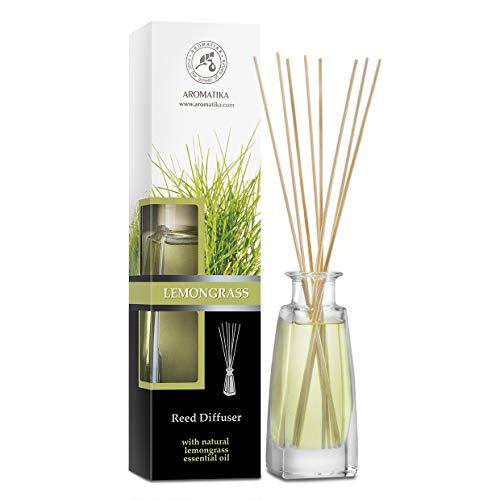 Diffusore di Fragranza con Bastoncini Lemongrass - 100ml - Diffusore con Olio Essenziale di Citronella - Bastoncini Profumati - Profumatori Ambiente - Aroma Fresco - Diffusore di Aromi