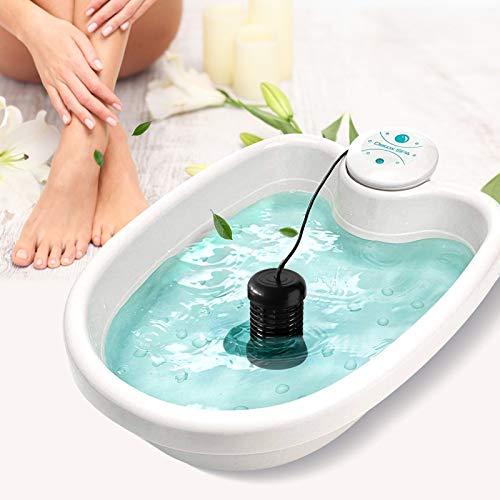 HUKOER Ionico Detox pediluvio Cleanse SPA Machine Foot Spa Vasca Health Care Set con bacino di plastica