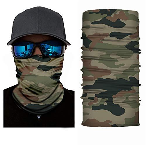 Sereney 3D Multiuso Camouflage Maschere Viso Passamontagna Microfibra Balaclava Scaldacollo Moto Elastico Foulard Bandana Antivento Sciarpa Sci Fascia Capelli Fazzoletto Copricapo Pesca Protezione UV